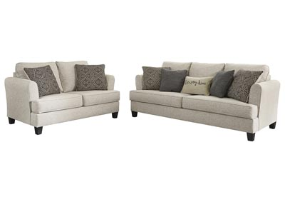 Alcona Linen Sofa and Loveseat
