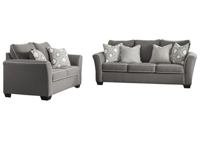 Image for Domani Charcoal Sofa & Loveseat
