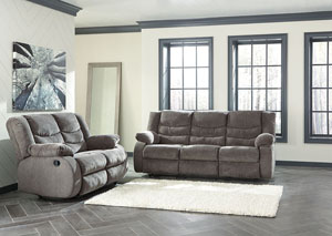 Tulen Gray Reclining Sofa and Loveseat