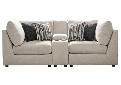Kellway Bisque 2 Piece Sectional w/Console