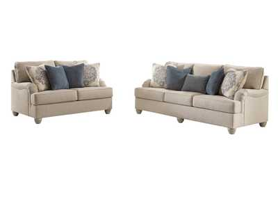 Dandrea Bisque Sofa & Loveseat