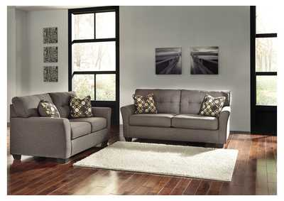 Tibbee Slate Sofa and Loveseat