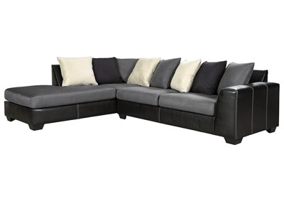 Jacurso Charcoal LAF Chaise Sectional