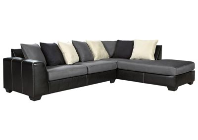 Jacurso Charcoal RAF Chaise Sectional