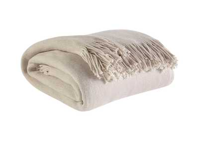 Haiden Ivory/Taupe Throw (Set of 3)