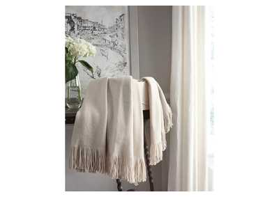 Haiden Ivory/Taupe Throw (3/CS),Signature Design By Ashley