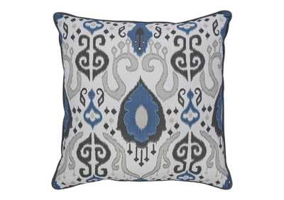 Damaria Blue/Ivory/Brown Pillow (Set of 4)