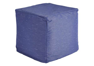 Catalina Dark Blue Pouf