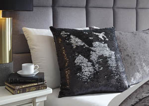 Maxandria Black/Silver Pillow (4/CS)