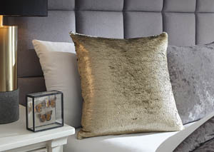 Maxandria Gold/Silver Finish Pillow (4/CS)