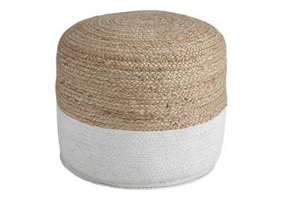 Image for Sweed Valley Natural/White Pouf