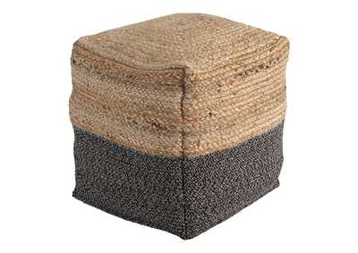 Image for Sweed Valley Natural/Black Pouf
