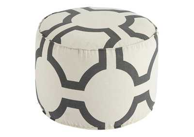 Image for Geometric Charcoal Pouf