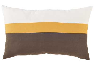 Image for Jacop Gray/Yellow/White Pillow