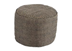 Chevron Natural Pouf