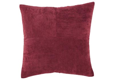 Jinelle Brick Red Pillow (4/CS)