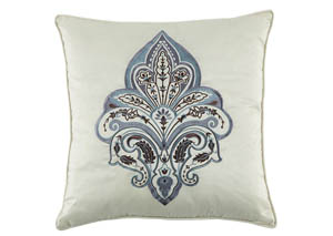 Mykel Cream/Blue Pillow