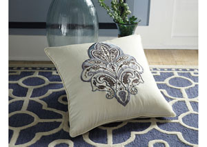 Mykel Cream/Blue Pillow (4/CS)