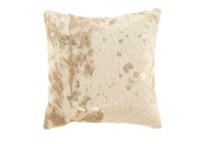 Image for Landers Cream/Gold Pillow (4/CS)