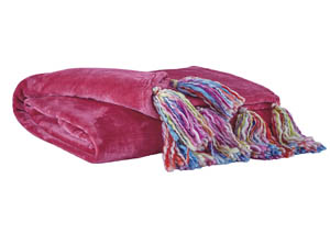 Alexa Pink Throw (Set of 3)