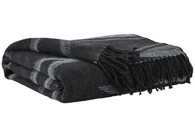 Image for Cecile Black/Gray Throw (Set of 3)