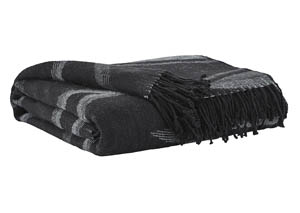 Cecile Black/Gray Throw (Set of 3)