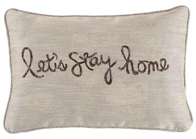 Let's Stay Home Chocolate Pillow (Set of 4)