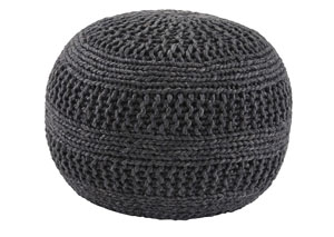 Benedict Charcoal Pouf,Signature Design By Ashley