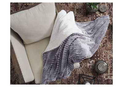 Metea Gray Throw (Set of 3)