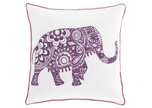 Medan White/Purple Pillow