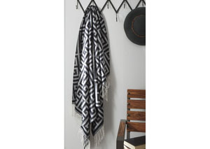 Anitra Black/Gray Throw (3/CS)