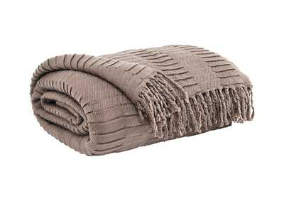 Image for Mendez Taupe Throw (3/CS)