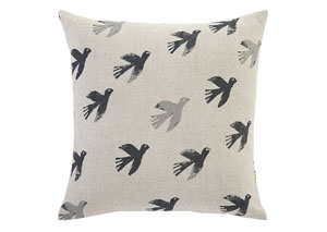 Draven Gray/Natural Pillow Cover
