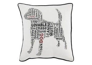 Beals White/Black Pillow