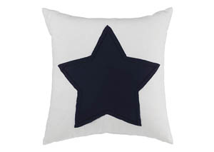 Gilead White/Navy Pillow