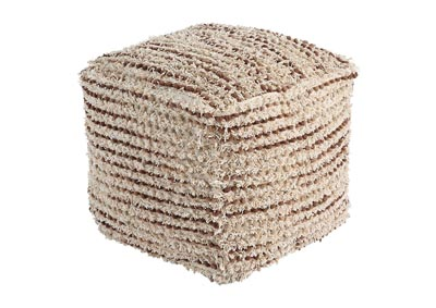 Jorge Brown/Cream Pouf