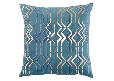 Caelyn Blue/Gold 4 Piece Pillow Set