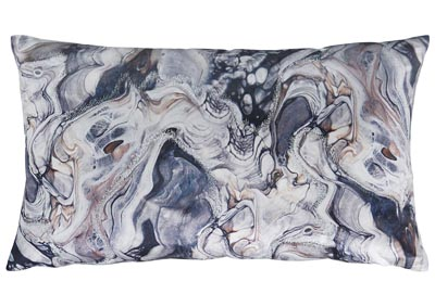 Carissa Gray/Blue Fabric Pillow