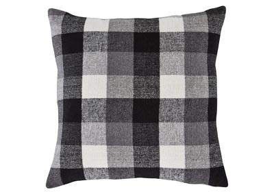 Carrigan Black/White 4 Piece Plaid Fabric Pillow Set