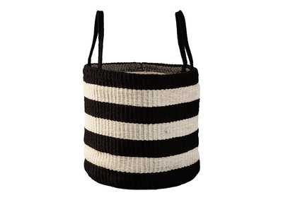 Edgerton Black/White Basket (Set of 2)