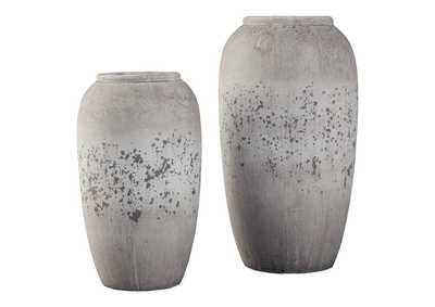 Dimitra Brown/Cream Vase Set (Set of 2)