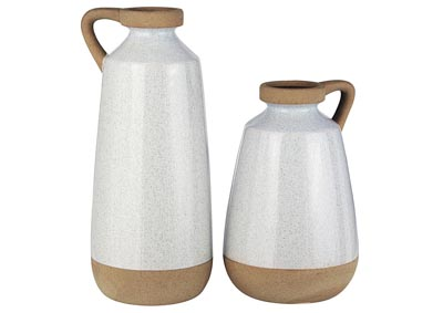 Image for Tilbury Cream Vase (Set of 2)