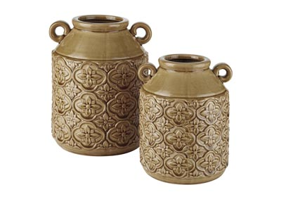 Edaline Ochre Vase (Set of 2)