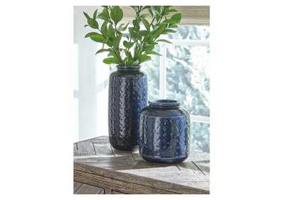 Image for Marenda Navy Blue Vase Set (Set of 2)