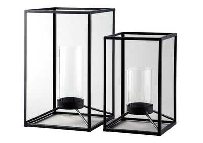 Dimtrois Black 2 Piece Lantern Set