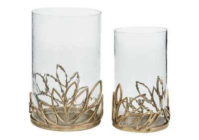 Pascal Yellow Candle Holder (Set of 2)