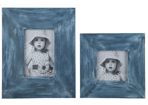 Baeddan Antique Blue Photo Frame (Set of 2)