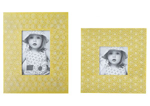 Bansi Yellow Photo Frame (Set of 2) (2/CS)