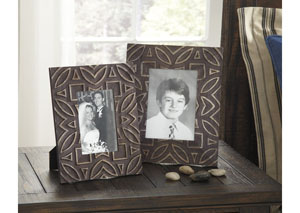 Marquise Antique Black Photo Frame (Set of 2) (2/CS)