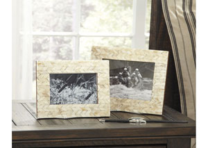 Kase Cream Photo Frame (Set of 2) (2/CS)